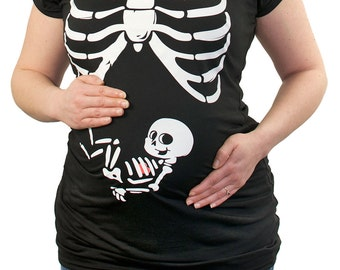 X-ray Rib Cage Baby Boy funny Maternity T-Shirt Clothes Top Clothing - chest print - Made From Bamboo - SUPER Soft & Stretchy
