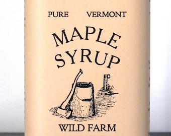 1 Quart, 4oz (36 oz) Can Wild Farm Pure Vermont Grade A Maple Syrup