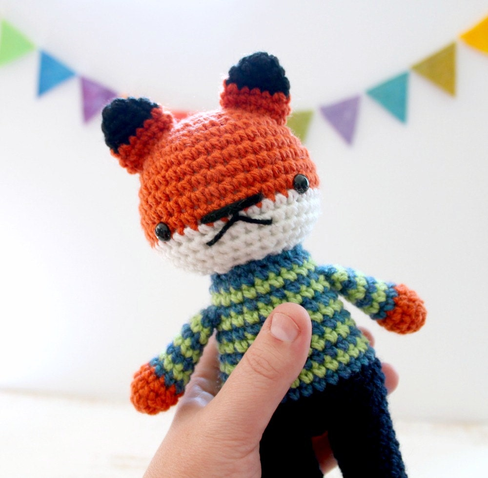 Crochet Toys For Boys : Arnold stuffed plushie toy fox boy doll by