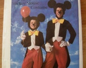 Mickey Mouse Costume Pattern Simplicity 7729 by Walt Disney  Adult small 32-34