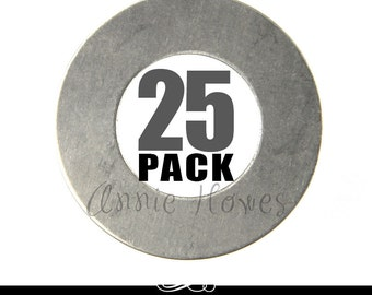 Nickel Silver Circle Washer Blanks. 25 Pack. 24ga MET-630