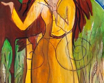 Aine, Celtic Sun Goddess of Love, Pagan Goddess Art