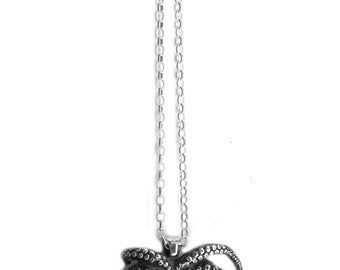 Octopus Necklace Silver Tentacles