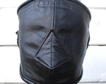 Leather Luxury Sleepmask/ Blindfold with Padded Eye/ Ears