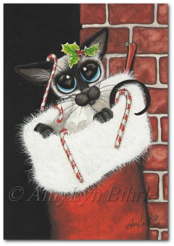 Items similar to siamese cat christmas stocking stuffer