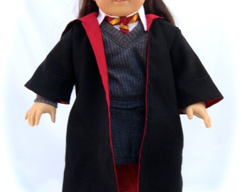 Wizard costume  Sized to fit American Girl or other 18 inch Dolls With Wand