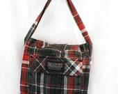 Company 81 Lumberjack Plaid Upcycled Crossbody Small Messenger or Field Bag