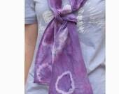 Tie Dyed Neck Scarf Fashion Purple Cotton