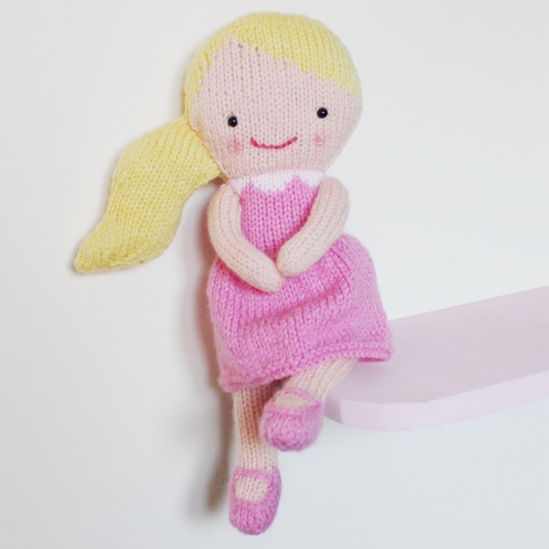 Doll Knitting Pattern Toy Rag Doll Pattern PDF Rosie & Lulu