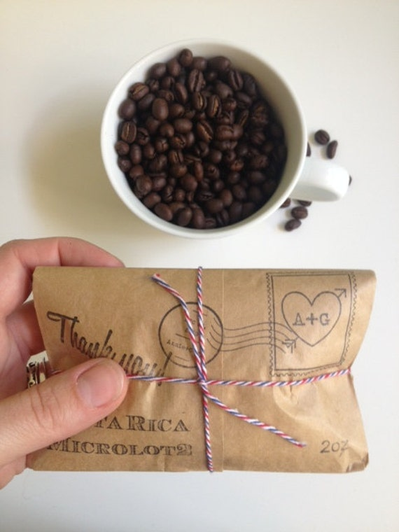 Unique Airmail Wedding Favors Coffee Party By AproposRoasters