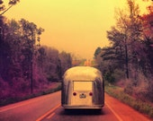 Vintage Airstream Photo - Wanderlust - Custom Square Art - Retro Home Decor - Free Shipping