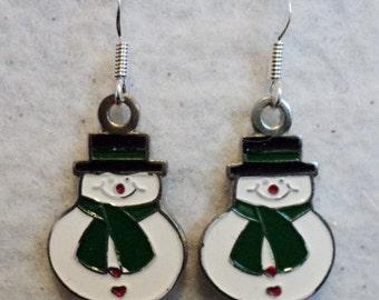 Snowman Earrings, Earrings, Charm Earrings, Holiday, Holiday Earrings, Winter, Snowman, Holiday Accessories, Christmas, Festive