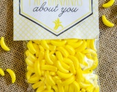 Valentine PRINTABLE Tag 'I'm Bananas About You' by Love The Day