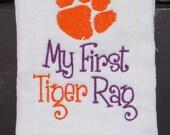 Clemson Tigers My First Tiger Rag Baby Burp Cloth