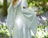 Savannah Desert Dress ~ Long White Dress ~ Medieval Dress ~ Renfest ~ Prom Dress ~ Handfasting ~ Wedding ~ Bridal Wear ~ technodolly