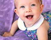 Headband petit silk flower  newborn toddler child teen or adult