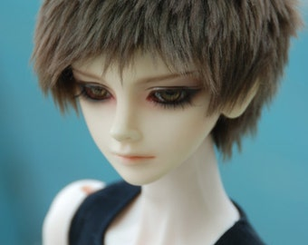 Short Dark Brown Fake Fur Wig for Volks BJD SD MSD and Other Size Dolls