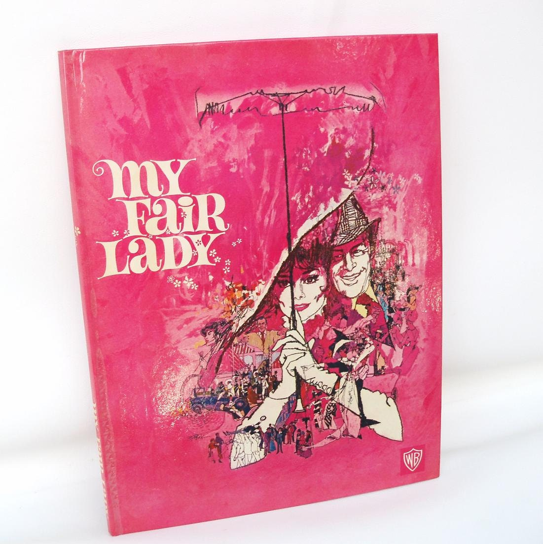 vintage my fair lady book 1960s movie memorabilia collectible. Black Bedroom Furniture Sets. Home Design Ideas