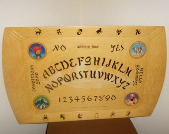 "Ouija Board ""Mystic Tray"" Talking Oracle Board Vintage 40s - HUGE 25 Inch Classic Spirit Communication Tool/Decor"