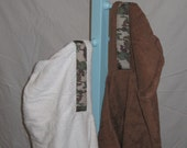 Custom order Hooded Towel with camo ribbon