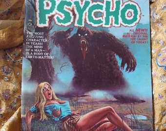 Psycho Comic No 2 Skywald Publishing 1971 The Heap Dream Planet Revolution Sci Fi Horror Adkins Magazine