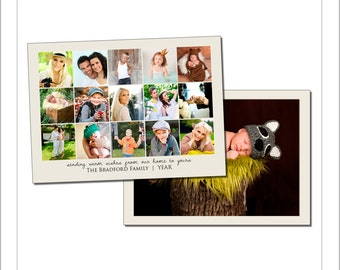 5x7 Collage Card Template (CAO207) INSTANT DOWNLOAD