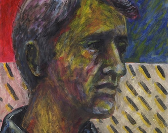 Original Painting - 'Man with Colorful Face' by Peter Mack