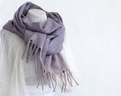 Nuno felted violet scarf, hand felted scarf for woman, wool accessories.