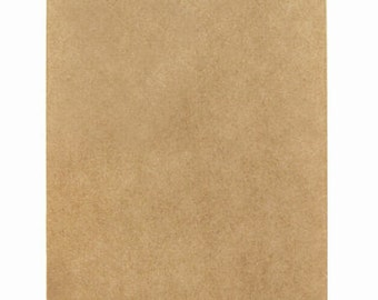 65 Small Kraft Paper Bags in Solid Brown Kraft - 2.75 x 4 inches, Suitable for Stamping