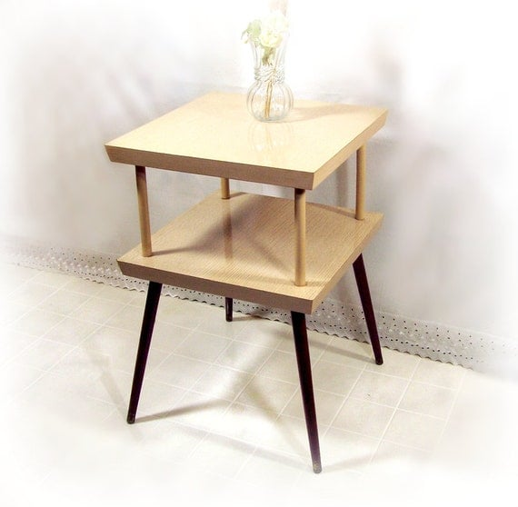 Vintage end table retro 60s mid century modern by for Retro side table
