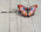 Pink Butterfly Bobby Pin Hair Accessory