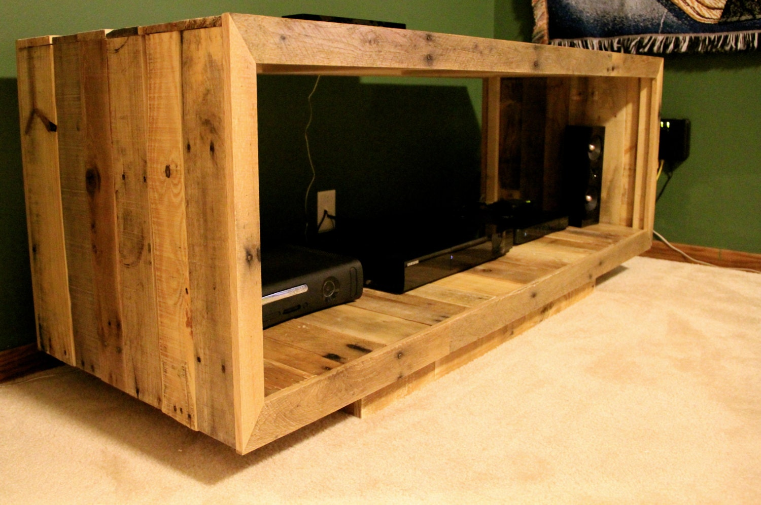 Reclaimed Pallet Wood Furniture Media Console By Fasprojects