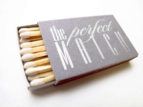 Best Wedding Gifts Under 100: 100 The Perfect Match Matchbox Wedding Favors Foil By