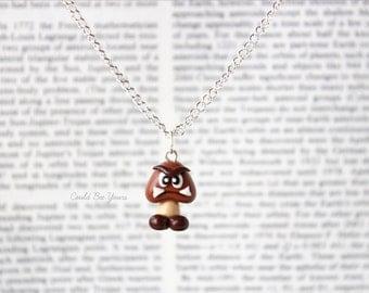 Goomba Necklace Super Mario Nintendo