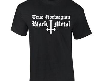 True Norwegian Black Metal T Shirt - FREE Shipping