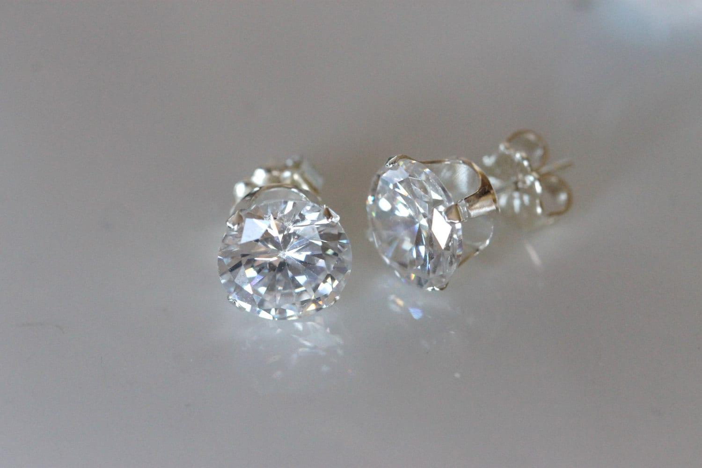 big fake diamond earrings -#main