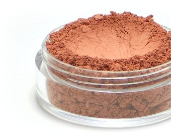 "Matte Coral Blush - ""Paradise"" (coral pink blush, matte, Net Wt 4.5g jar) - Vegan natural blush for light to medium skin"