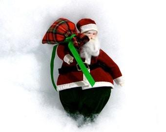 Vintage Santa Claus St. Nick Christmas Holiday Ornament Decor - 1970s Home and Living