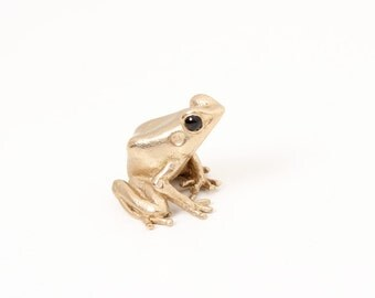 Poison dart frog -Bronze  (small, Polished Bronze)