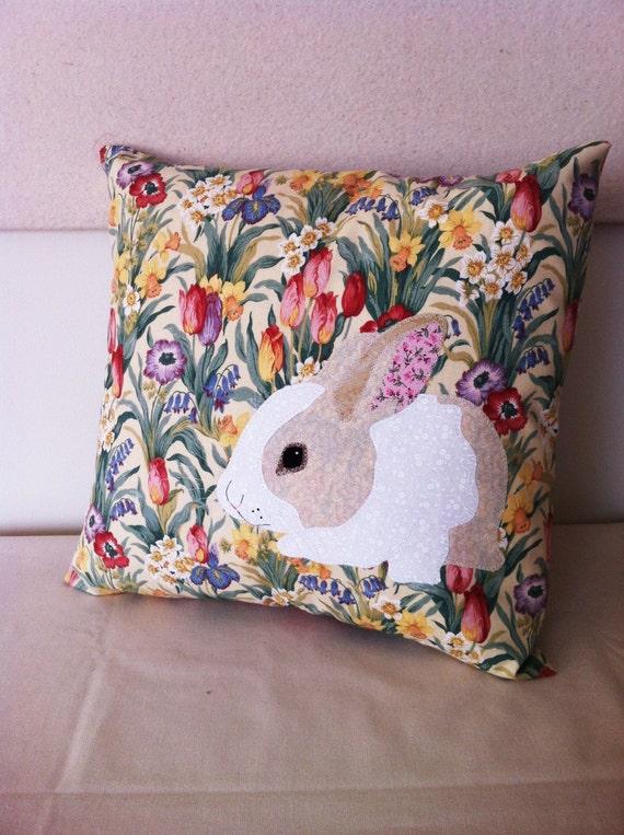 Springtime Bunny Pillow