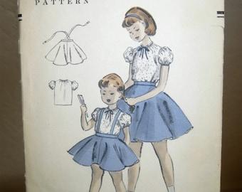 On Sale! 1950's / 1954 Vogue Pattern - Girl's Skirt & Blouse- Girl's Size 6