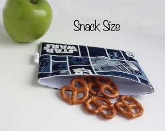 Reusable Snack & Sandwich Bag, Star Wars, Eco-Friendly