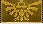 Zelda Triforce Hyrule Logo Doily Pattern