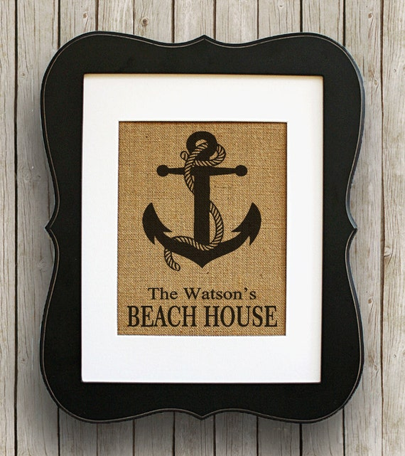 Personalized Nautical Wall Decor : Items similar to personalized nautical beach house wall