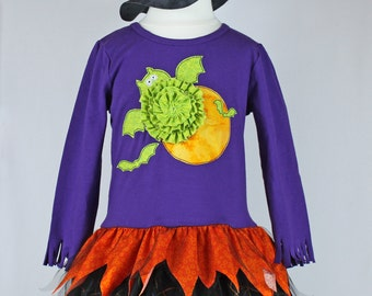 Halloween witch outfit dress pdf pattern girls toddlers, witch hat,cat bat applique TABITHA'S DRESS