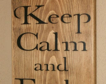 Firefighter Sign, Firefighter Decor, Distressed Wood Sign, Firefighter Signs, Fight Fire, FIrst Responder Signs - Keep Calm And Fight Fire