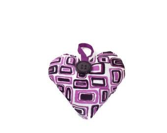 Purple Heart Decoration.  Geometric Design. Handmade. UK Seller.  CLEARANCE SALE