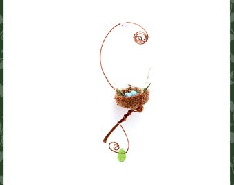 The original fairy garden acorn birds nest decoration ornament garden accessory