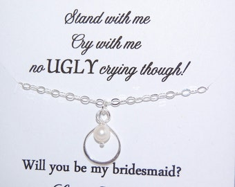 BRIDESMAID gifts, Bridesmaid cards, Bridesmaids, cute way to ask Bridesmaids, be in my wedding, No Ugly Crying