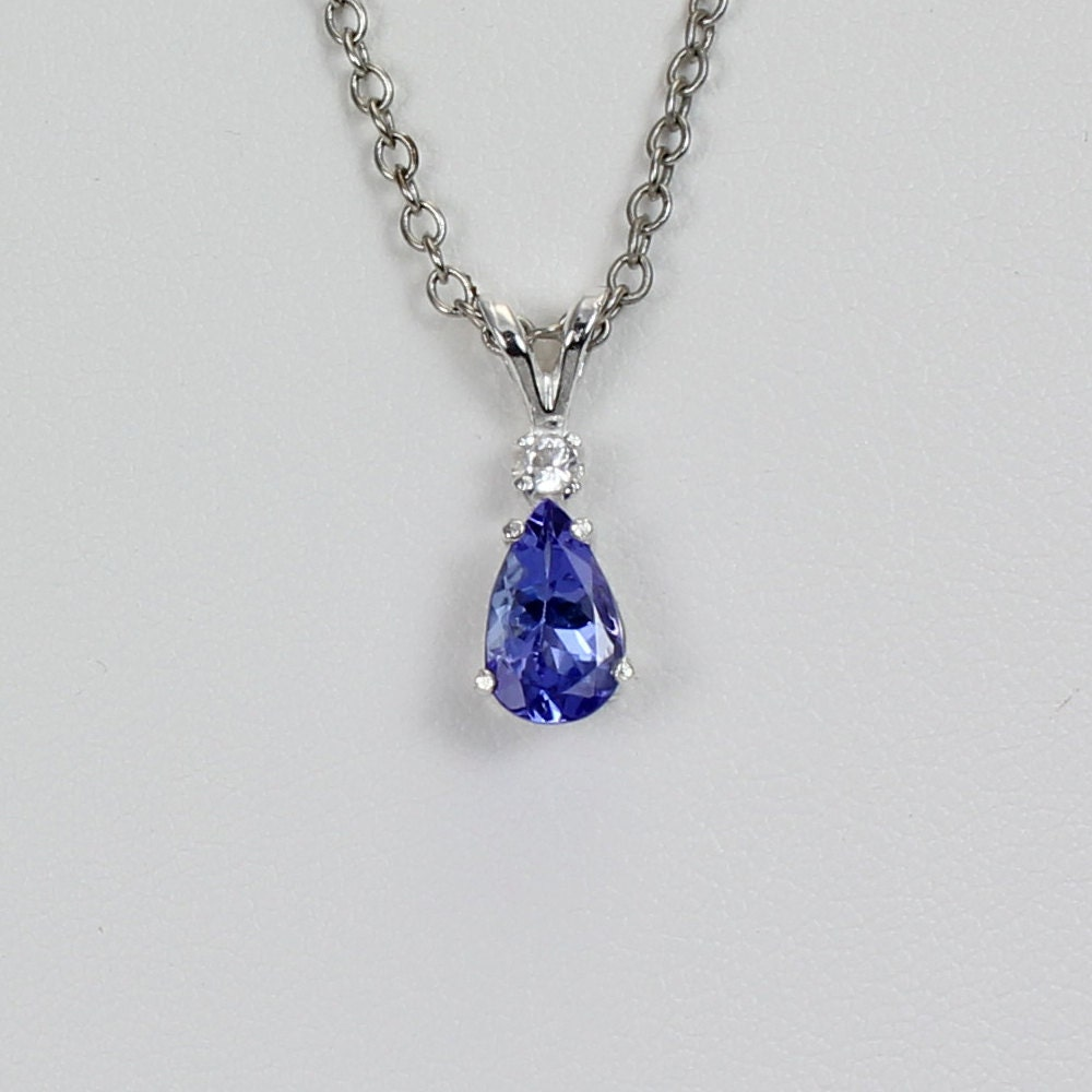 Tanzanite Necklace Tanzanite: Genuine Tanzanite Necklace Sterling Silver Tanzanite Pendant